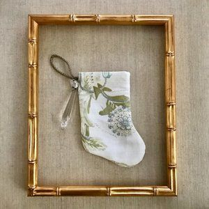 Designer Holiday Stocking Ornament & Decor